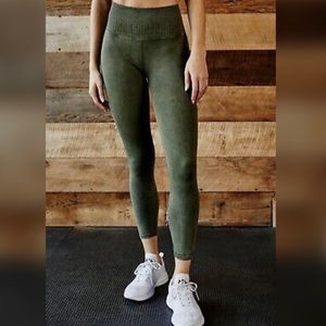 2 Free People Shanti Vintage Green Leggings
